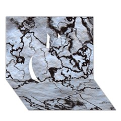 Marbled Lava White Black Apple 3D Greeting Card (7x5)