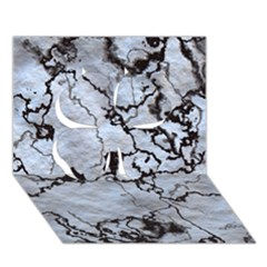 Marbled Lava White Black Clover 3d Greeting Card (7x5)