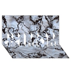 Marbled Lava White Black #1 MOM 3D Greeting Cards (8x4)