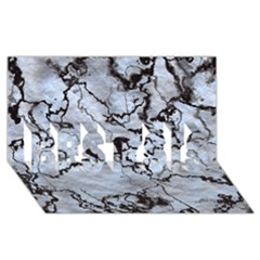 Marbled Lava White Black Best Sis 3d Greeting Card (8x4)