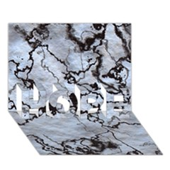Marbled Lava White Black HOPE 3D Greeting Card (7x5)