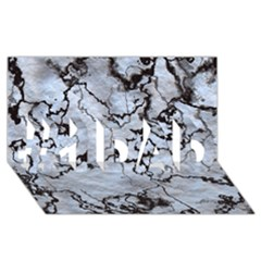 Marbled Lava White Black #1 DAD 3D Greeting Card (8x4)