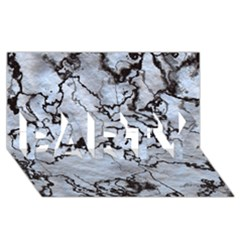 Marbled Lava White Black PARTY 3D Greeting Card (8x4)