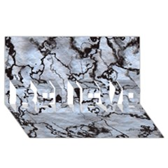 Marbled Lava White Black Believe 3d Greeting Card (8x4)