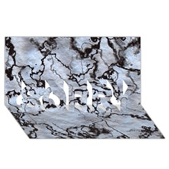 Marbled Lava White Black Sorry 3d Greeting Card (8x4)