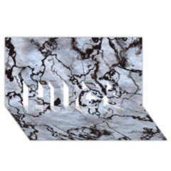 Marbled Lava White Black Hugs 3d Greeting Card (8x4)
