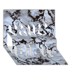 Marbled Lava White Black You Did It 3d Greeting Card (7x5)