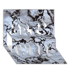 Marbled Lava White Black Get Well 3d Greeting Card (7x5)