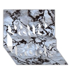 Marbled Lava White Black You Rock 3D Greeting Card (7x5)