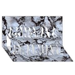 Marbled Lava White Black Congrats Graduate 3d Greeting Card (8x4)