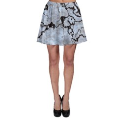 Marbled Lava White Black Skater Skirts