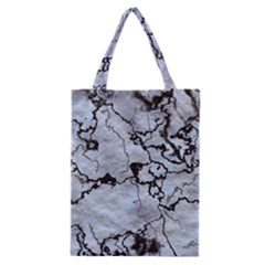 Marbled Lava White Black Classic Tote Bags