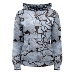 Marbled Lava White Black Women s Pullover Hoodies