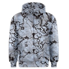 Marbled Lava White Black Men s Zipper Hoodies