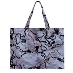 Marbled Lava White Black Zipper Tiny Tote Bags