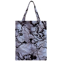 Marbled Lava White Black Zipper Classic Tote Bags