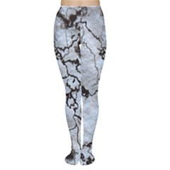Marbled Lava White Black Women s Tights
