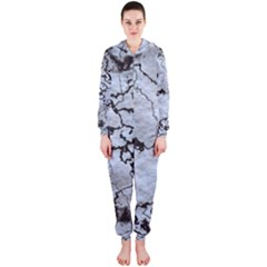 Marbled Lava White Black Hooded Jumpsuit (Ladies)