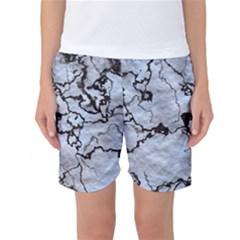 Marbled Lava White Black Women s Basketball Shorts