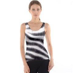 Zebra Print Abstract  Tank Tops
