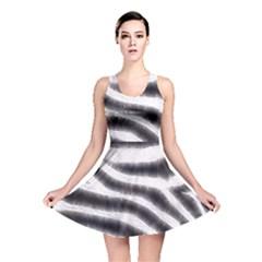 Zebra Print Abstract  Reversible Skater Dresses