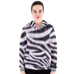 Zebra Print Abstract  Women s Zipper Hoodies