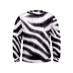 Zebra Print Abstract  Boys  Sweatshirts