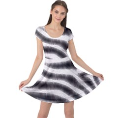 Zebra Print Abstract  Cap Sleeve Dresses