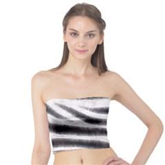 Zebra Print Abstract  Women s Tube Tops