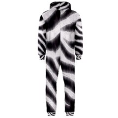 Zebra Print Abstract  Hooded Jumpsuit (Men)