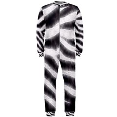 Zebra Print Abstract  OnePiece Jumpsuit (Men)