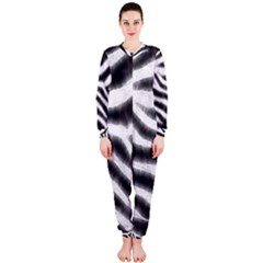 Zebra Print Abstract  OnePiece Jumpsuit (Ladies)