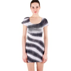 Zebra Print Abstract  Short Sleeve Bodycon Dresses