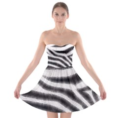 Zebra Print Abstract  Strapless Bra Top Dress