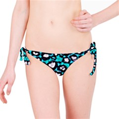 Turquoise Black Cheetah Abstract  Bikini Bottoms