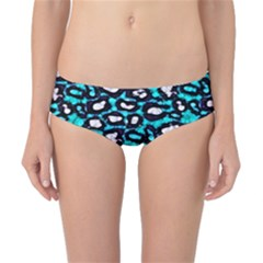 Turquoise Black Cheetah Abstract  Classic Bikini Bottoms