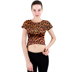 Lava Abstract  Crew Neck Crop Top