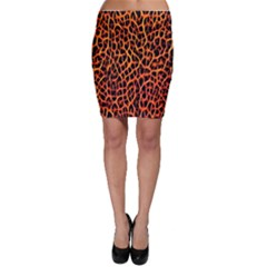 Lava Abstract  Bodycon Skirts