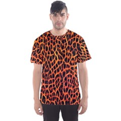 Lava Abstract  Men s Sport Mesh Tees