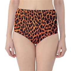 Lava Abstract  High-Waist Bikini Bottoms