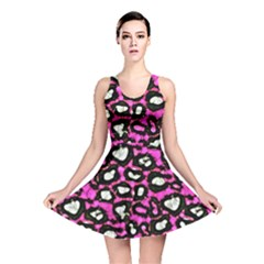Pink Cheetah Abstract  Reversible Skater Dresses