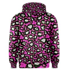 Pink Cheetah Abstract  Men s Zipper Hoodies
