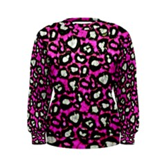 Pink Cheetah Abstract  Women s Sweatshirts
