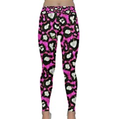 Pink Cheetah Abstract  Yoga Leggings