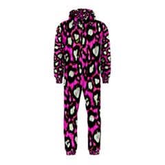 Pink Cheetah Abstract  Hooded Jumpsuit (Kids)