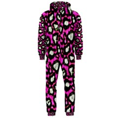 Pink Cheetah Abstract  Hooded Jumpsuit (men)