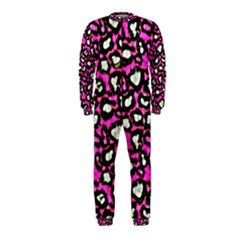 Pink Cheetah Abstract  Onepiece Jumpsuit (kids)