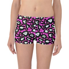 Pink Cheetah Abstract  Boyleg Bikini Bottoms