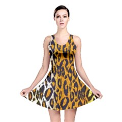 Animal print Abstract  Reversible Skater Dresses