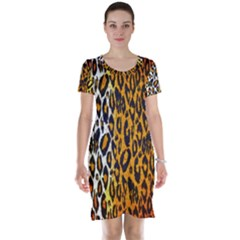 Animal print Abstract  Short Sleeve Nightdresses